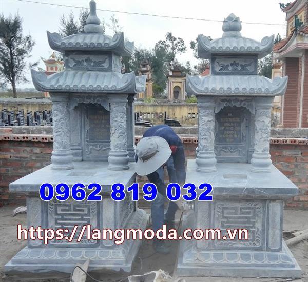mẫu mộ đôi bằng đá tại Bình Thuận