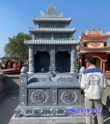 mẫu mộ đôi bằng đá tại Khánh Hoà