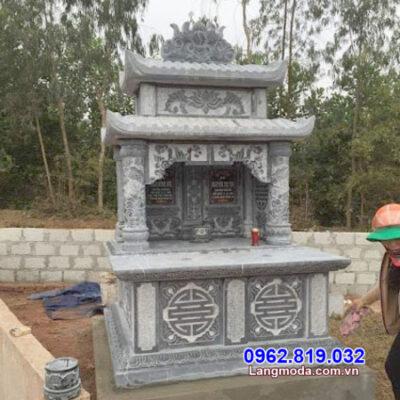 mẫu mộ đôi song thân bằng đá đẹp tại Khánh Hòa