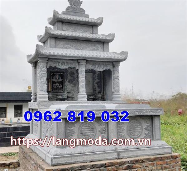 mộ song thân bằng đá tại Bình Thuận