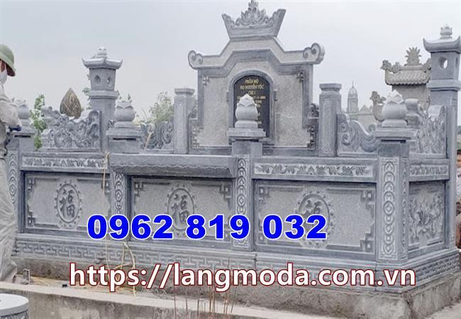 tường bao đá cho khu nhà mồ tại Trà Vinh đẹp nhất