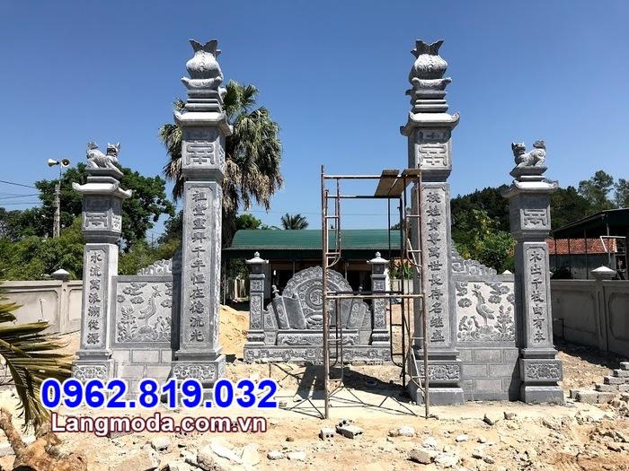 Mẫu cổng chùa bằng đá đẹp