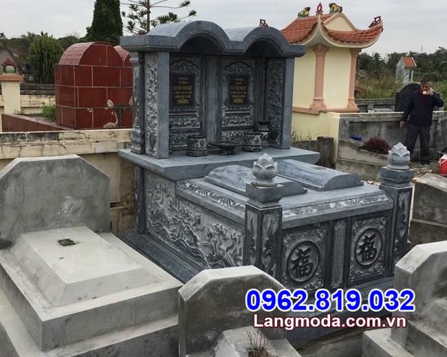 Mẫu mộ đôi bằng đá tự nhiên đẹp