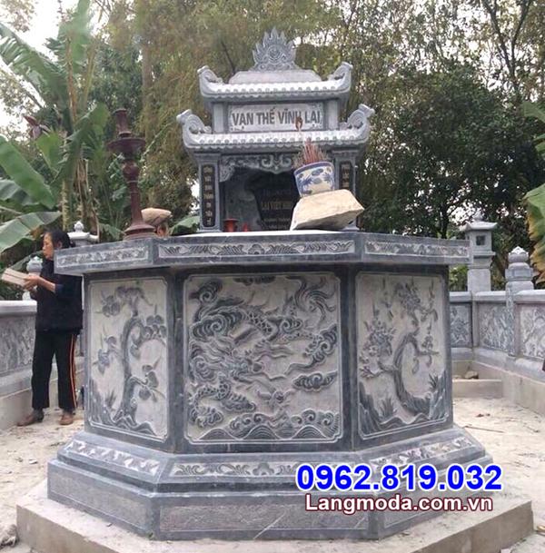 Mẫu mộ hình lục giác bằng đá đẹp nhất