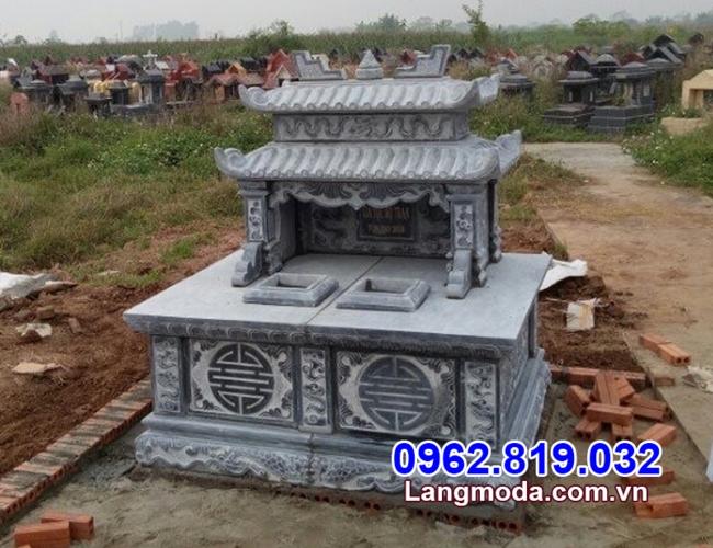 mộ đôi bằng đá tự nhiên đẹp