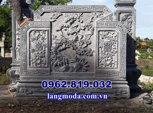 Mẫu bình phong đá trước mộ , Cuốn thư đá lăng mộ