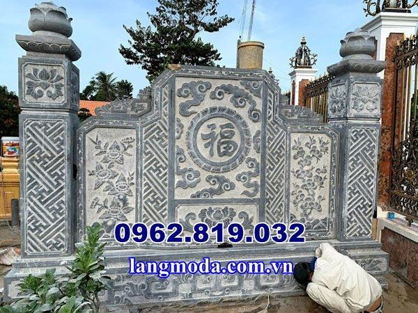Mẫu bình phong lăng mộ , xây bình phong lăng mộ