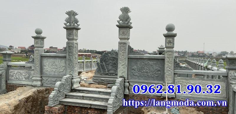 Bán lăng mộ đá xanh mộ đá xanh đẹp tại Bắc Giang