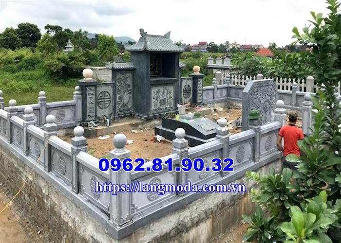 Bán mẫu lăng mộ đá xanh tại Thái Nguyên