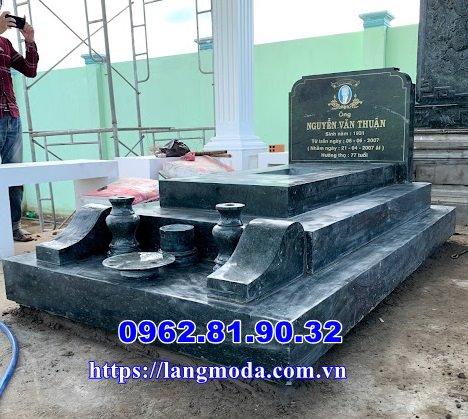 Bán mẫu mộ đá xanh đẹp đơn giản tại Vĩnh Long