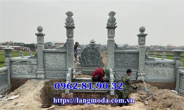 Mẫu cổng đá xanh lăng mộ tại Bắc Giang