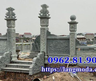 Xây Mẫu lăng mộ đá xanh đẹp tại Bắc Giang