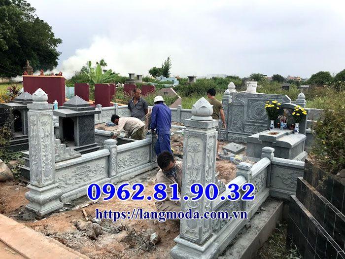 Mẫu lăng mộ đá xanh đẹp tại Bắc Ninh;