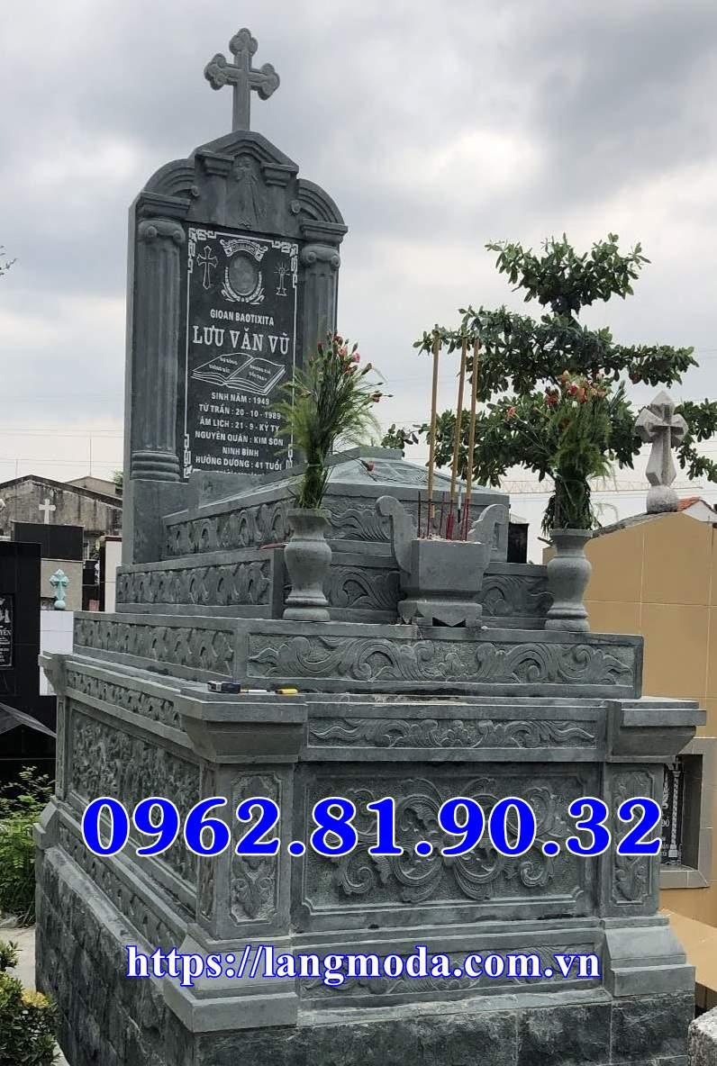 Mẫu mộ công giáo đá xanh bán tại Sài gòn, Mộ đá công giáo bán tại Hồ Chí Minh ;