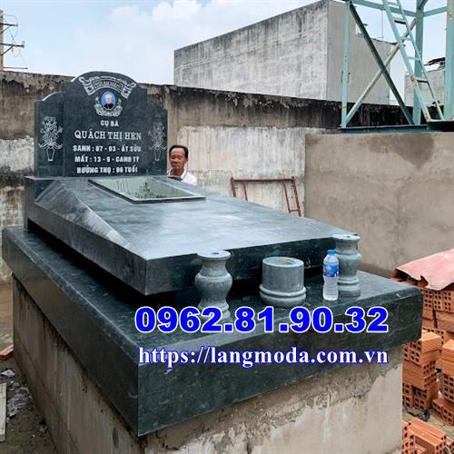 Mẫu mộ đá xanh đẹp bán tại Sài Gòn