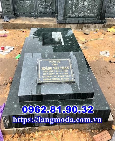 Mẫu mộ đá xanh đơn giản tại Thái Nguyên