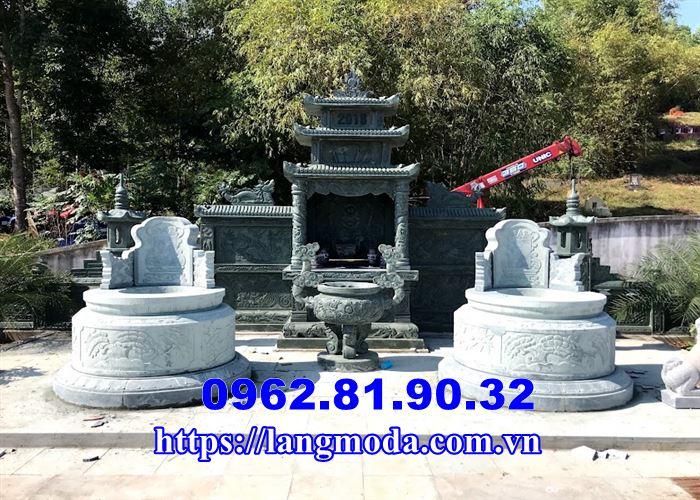 Mẫu mộ tròn đẹp đá xanh bán Tại Thái Nguyên