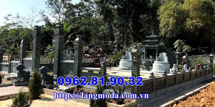 xây lăng mộ đá xanh đẹp tại Thái Nguyên