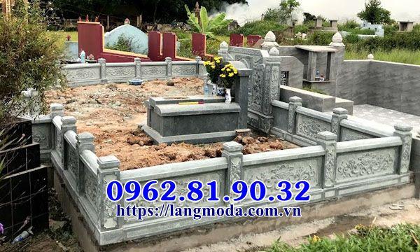 Xây lăng mộ đá xanh tại Bắc Ninh;